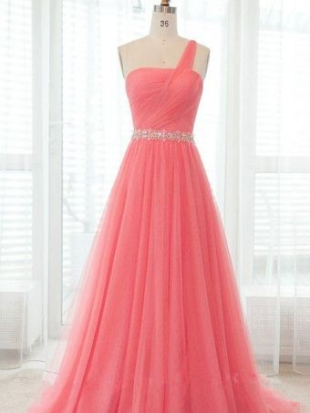 Amazing Sweetheart one-shoulder Tulle prom dress $172.99