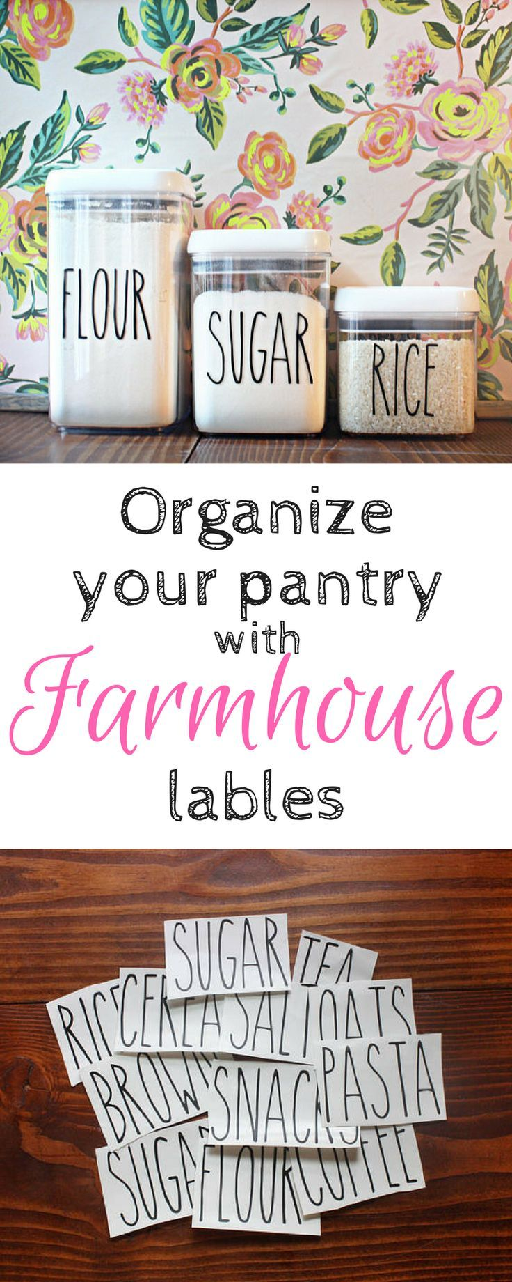 Best 25 Pantry labels ideas on Pinterest  Organized pantry Pantry storage and Mason jar storage