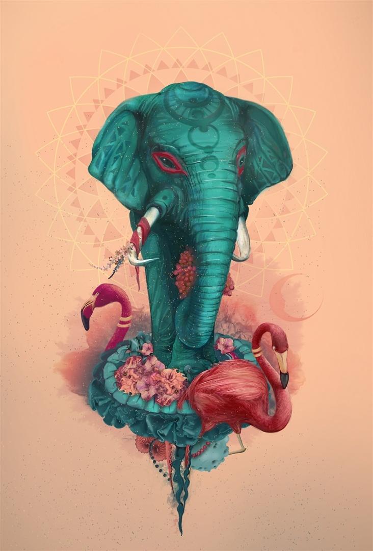 """Curioos.com   """"elefant"""" by tatiana kazakova (Russian Federation) - http://pinterest.com/curioos"""