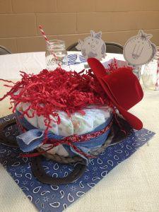 Cowboy Themed Baby Shower, Hat, Horseshoe, twine, Silhouette Cameo, diaper cake, www.HALLwaysoflife.wordpress.com