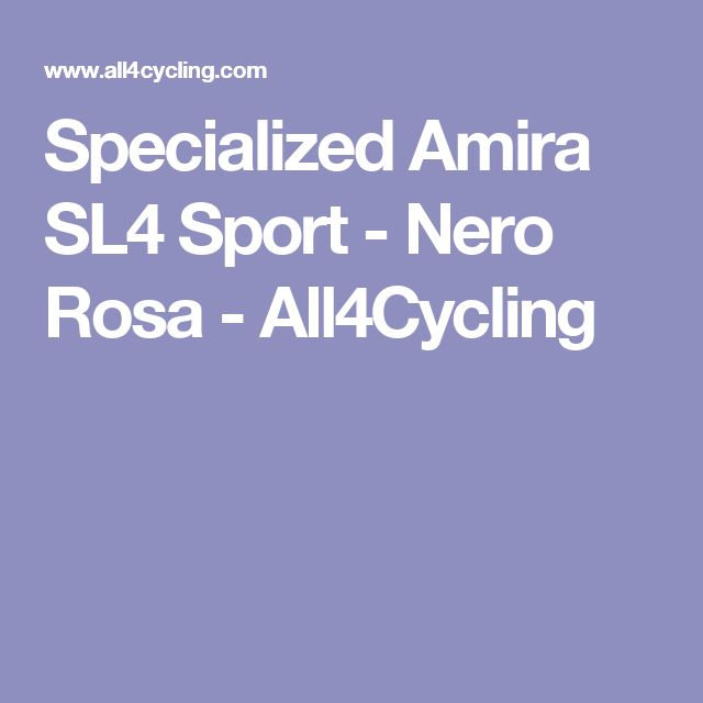 Specialized Amira SL4 Sport - Nero Rosa - All4Cycling