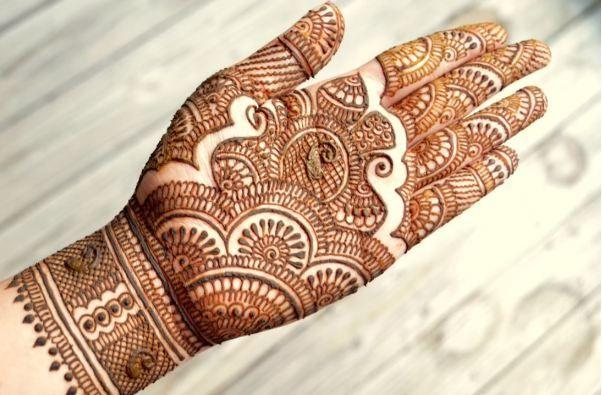 Traditional Rajasthani Bridal Henna Mehndi Design Step By Step - Crazzy Crafts