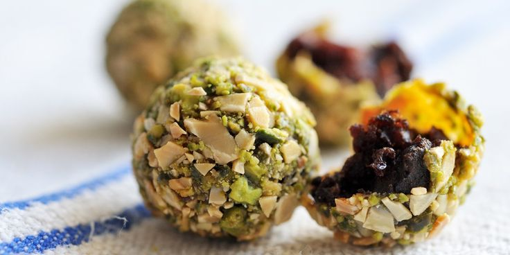 Morcilla and pistachio croquette with apple pur e recipe for Canape fillings indian