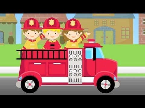 ABC Firetruck Song for Children - Fire Truck Lullaby & Nursery Rhyme in ...