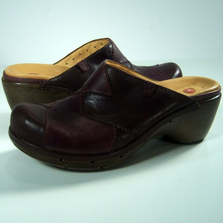 Clogs Mules 8M Womens Brown Leather Shoes Heels #Clarks #Mules