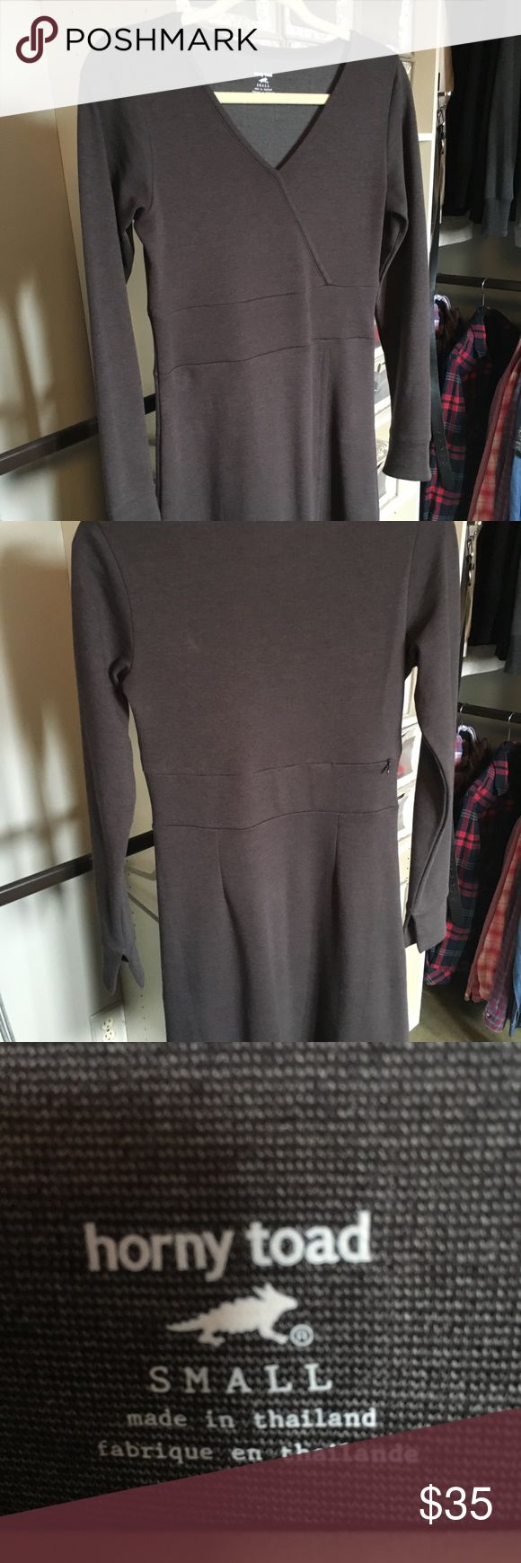 Horny Toad athletic dress. Long sleeve athletic dress from Title Nine.  Never worn..PERFECT condition..size small.  Knee length..super cute with tights/leggings and boots. Horny Toad Dresses Long Sleeve
