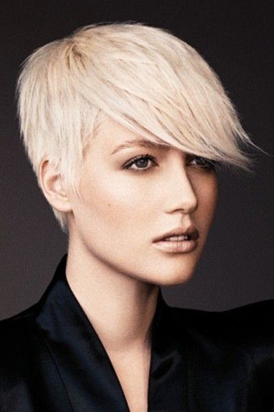 Short Blond Pixie with an Edgy Fringe
