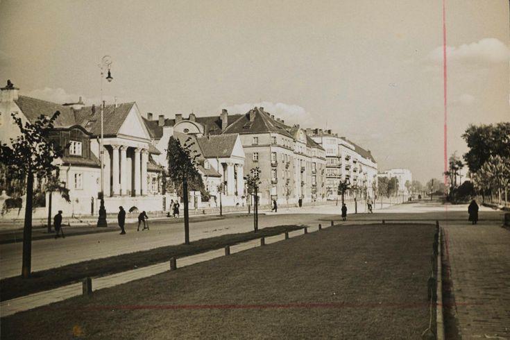 Warszawa - ulica Wawelska (lata 30. XX w.)