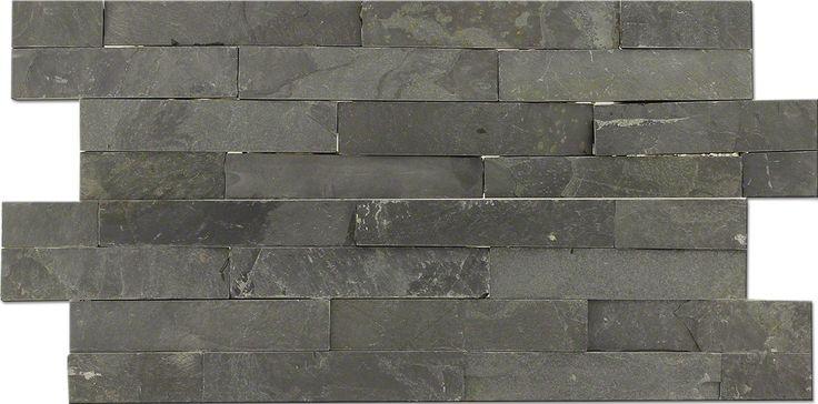 Steenstrip Wandstrip Antraciet Leisteen Natuursteen 15x60 cm