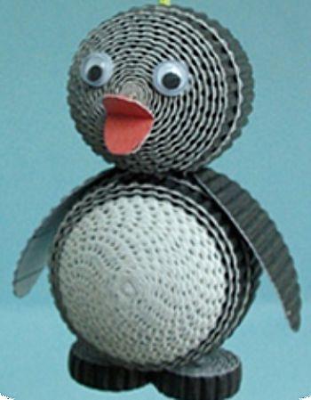 Pinguïn van golfkarton