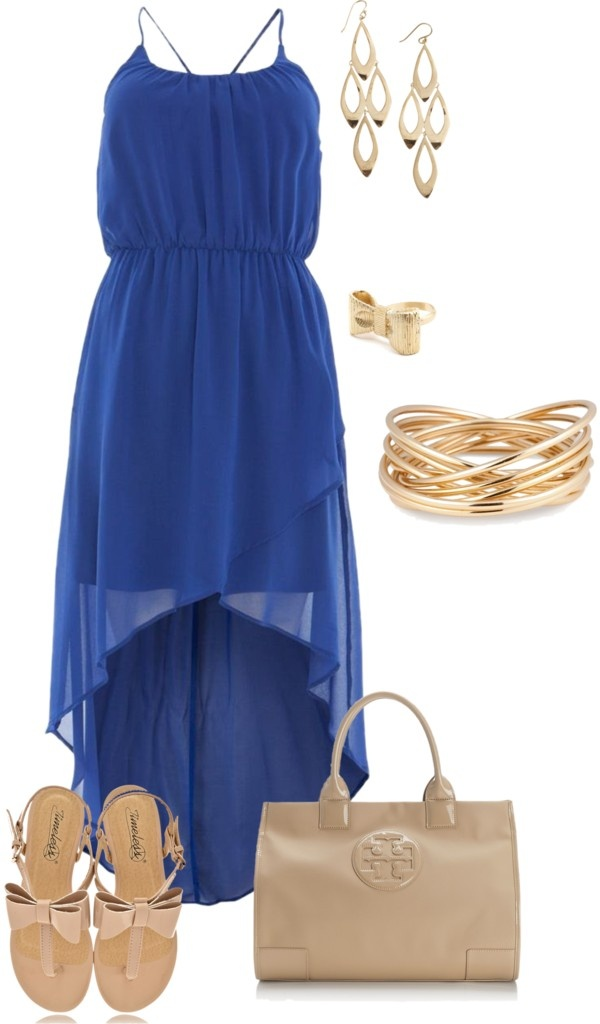 """""""khaki and blue"""" by shimmerstyle on Polyvore"""