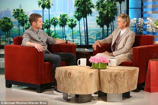 Ellen Degeneres Palm Tree talk show set