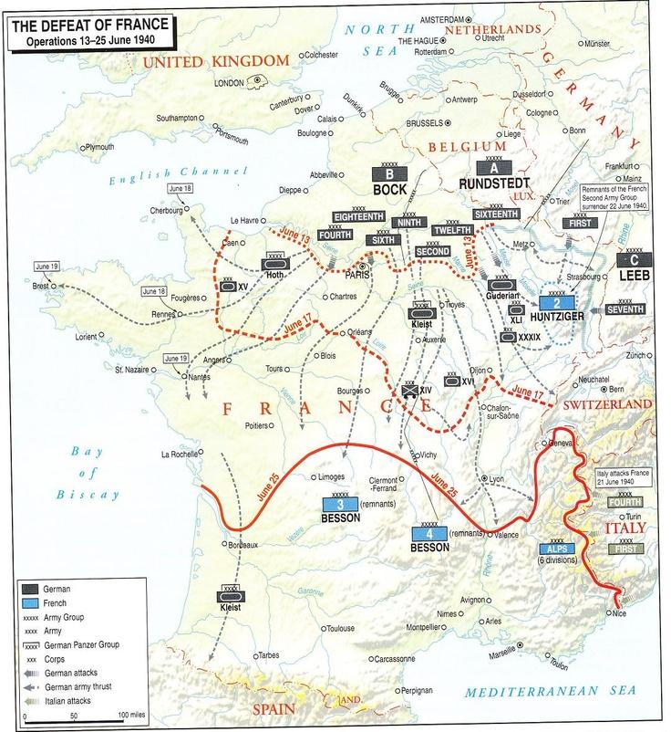 Battle Map Of France 1940 – Jerusalem House