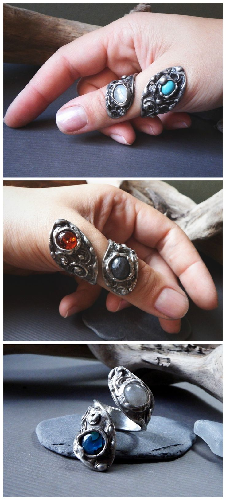 Thumb Wraps by Alice Savage.. These have such a beautiful, magical vibe! They wrap around your thumb so comfortably, and with all the power of a statement ring.  The antique look just adds to their charme! She has some in her shops, but also takes commissions for them (just email her from her website!) Fairy, fantasy, bohemian, gypsy