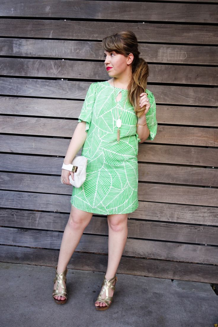 Palm Tree Shift Dress | Beauty and the Binky blog