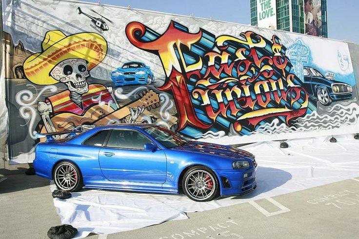 CARS: Paul Walker Skyline For Sale http://www.RacingNewsNetwork.com/2014/02/11/cars-paul-walker-skyline-for-sale/ #paulwaker #skyline #skylinegtr #gtr #nissan #nissangtr #car #cars #blue #graffiti
