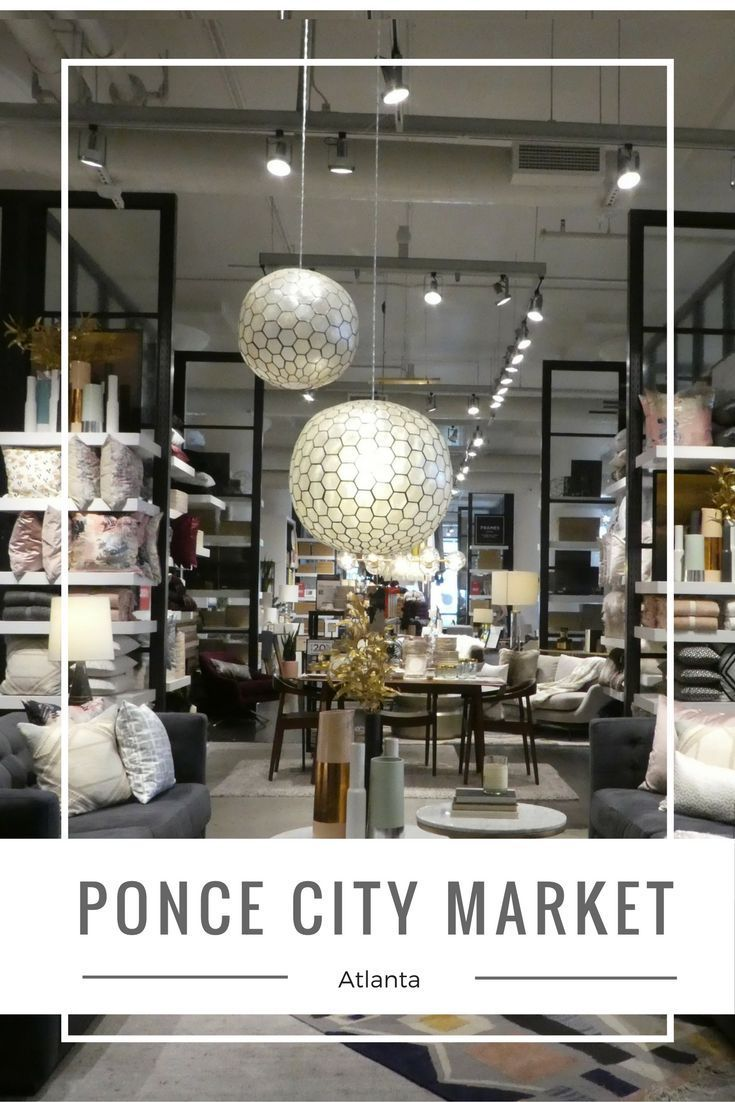 The Ponce City Market in Atlanta, Georgia is housed in the largest brick building in the southeast.