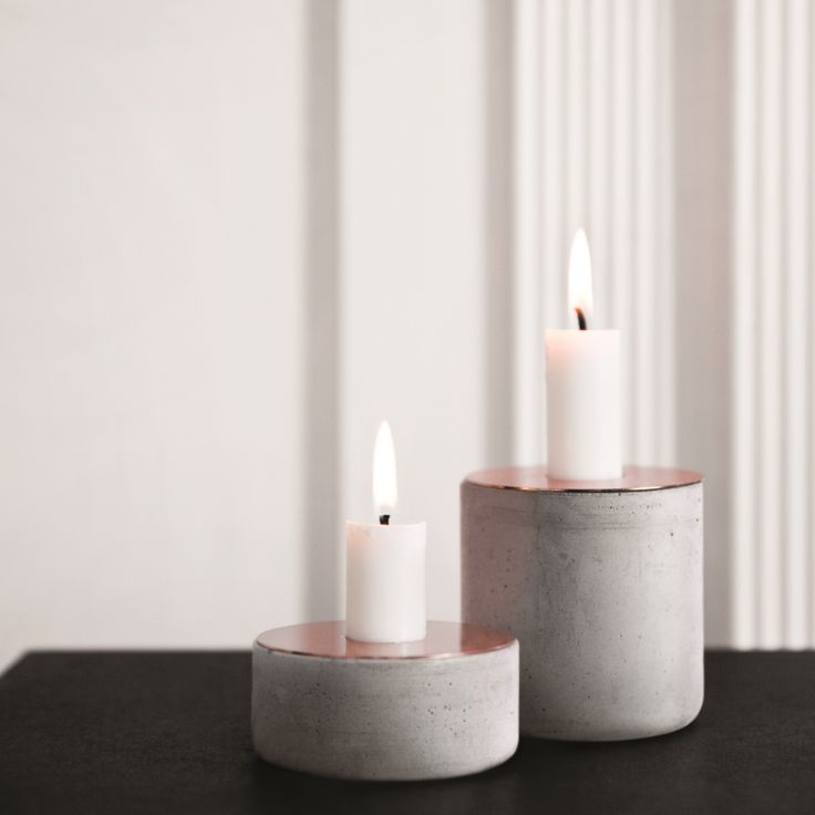 Menu Chunk of Concrete Candleholder