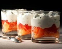 Verrines de saumon au tzatziki (facile, rapide) - Une recette CuisineAZ