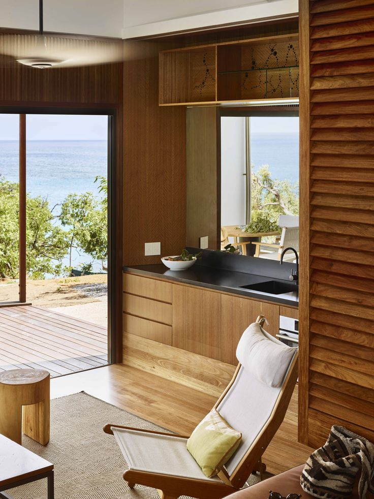 Custom Kitchen for Wilson's Cottage - Lizard Island.  TWOFOLD STUDIO with James Davidson Architect.