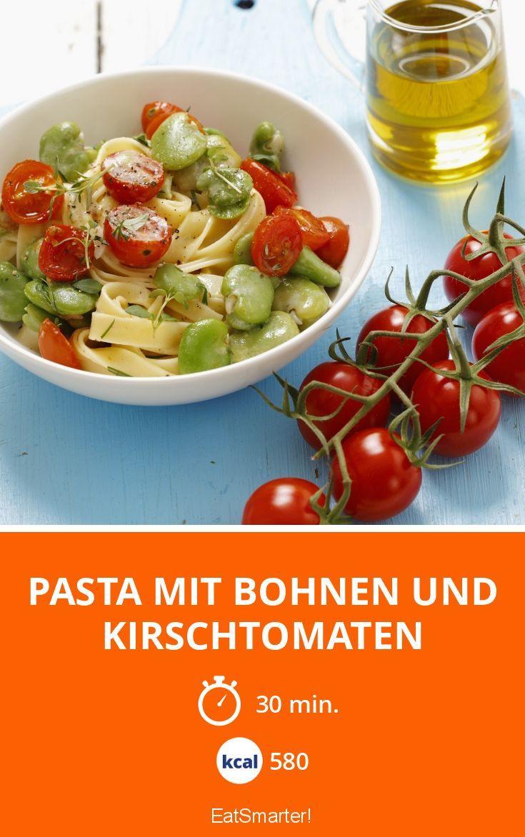 Pasta mit Bohnen und Kirschtomaten - smarter - Kalorien: 580 Kcal - Zeit: 30 Min. | eatsmarter.de