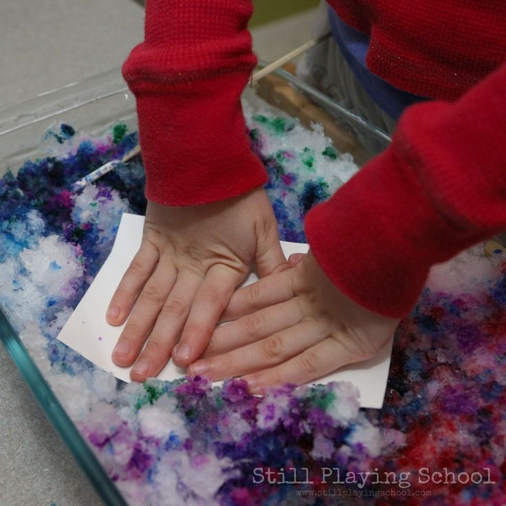 Snow Printing Process Art for Kids | Still Playing School