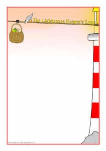 The Lighthouse Keeper's Lunch A4 page borders (SB3726) - SparkleBox