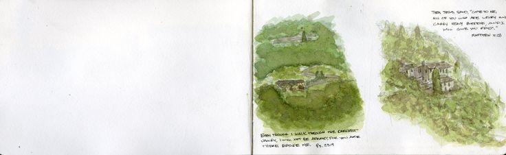 Watercolor: House in the Piedmont