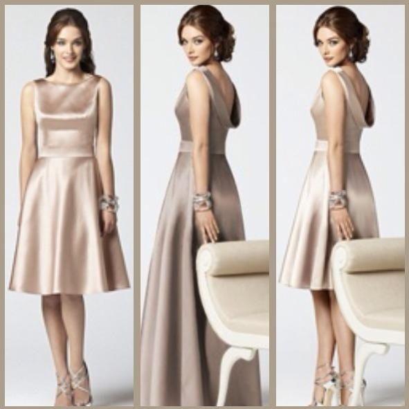 Mocha bridesmaid dress, so classy