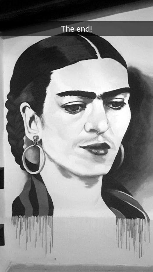 Huge Frida Kahlo Drawing