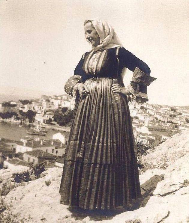 Traditional costume from Skiathos island. Greece. 1937