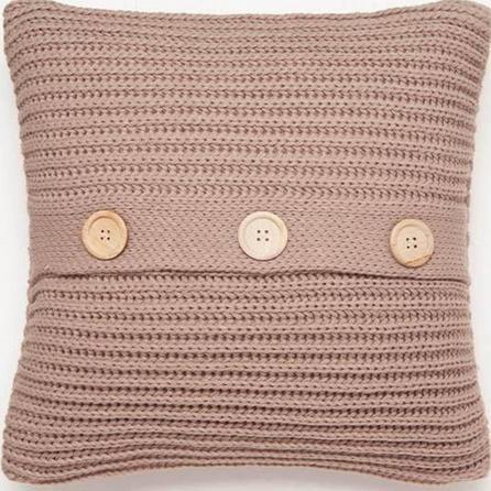Chunky Knit Natural Cushion Cover
