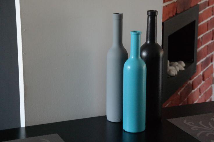Sunflower - u mnie na wsi: Malowanie butelek czyli recyklingowe ozdoby - DIY