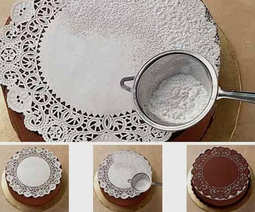 Decorate your cake with a cake doily