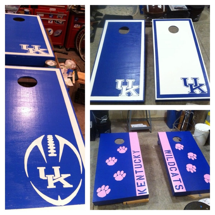 University of Kentucky corn hole boards. First order. Check www.facebook.com/fishscustoms for more and custom order information