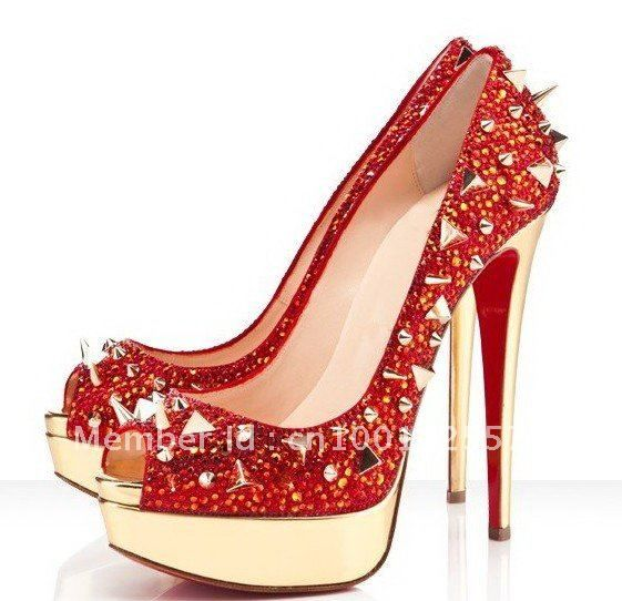 red bottom shoes for women | color red bottom high heel women ...