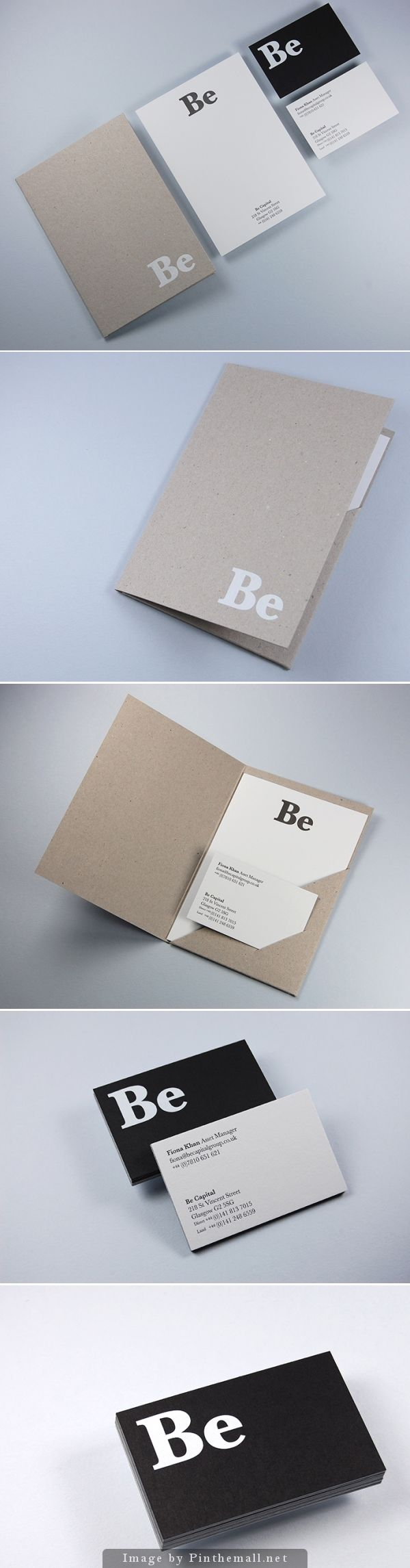 #corporate identity #branding business card letterpress notebook minimal craft paper folder flyer #graphicdesign