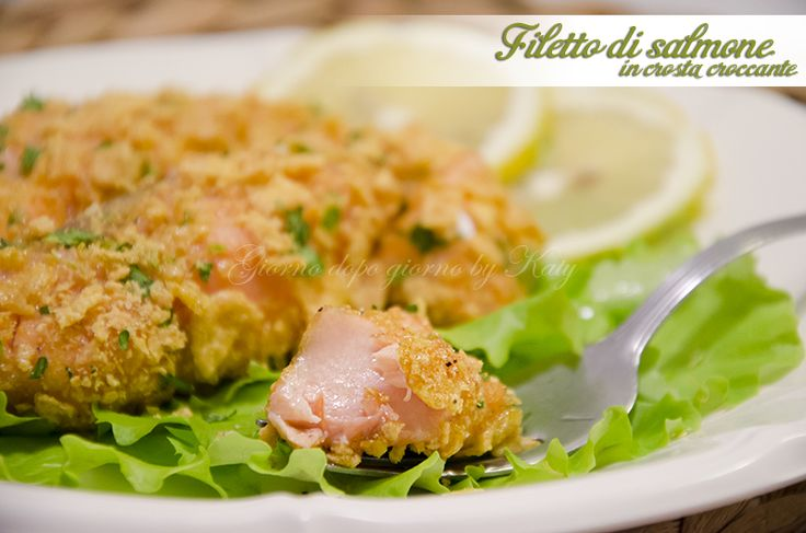 filetti di salmone in crosta croccante