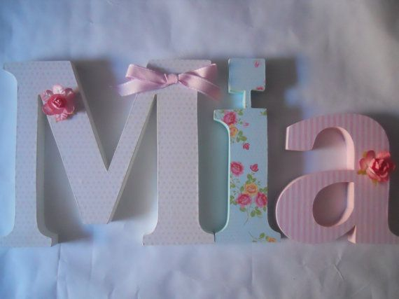 Wooden letters for nursery spelling out your by SummerOlivias, $12.00