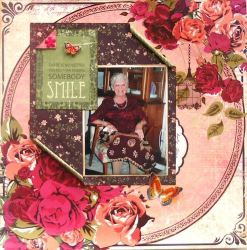 Page created with KiaserCraft, Lady Rose collection by Rosemary for My Scrappin' Shop.