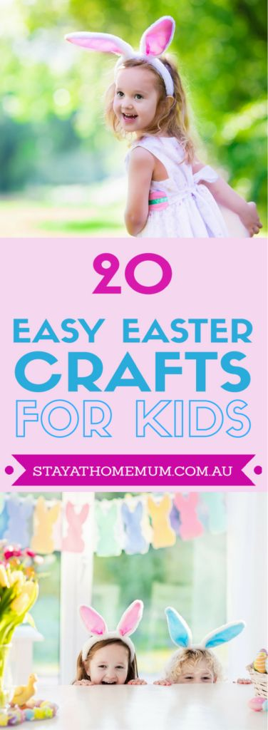 You don't even need your super mum skillsto learn these easy Easter crafts. It's simply too cute to miss the Easter fun with kids.