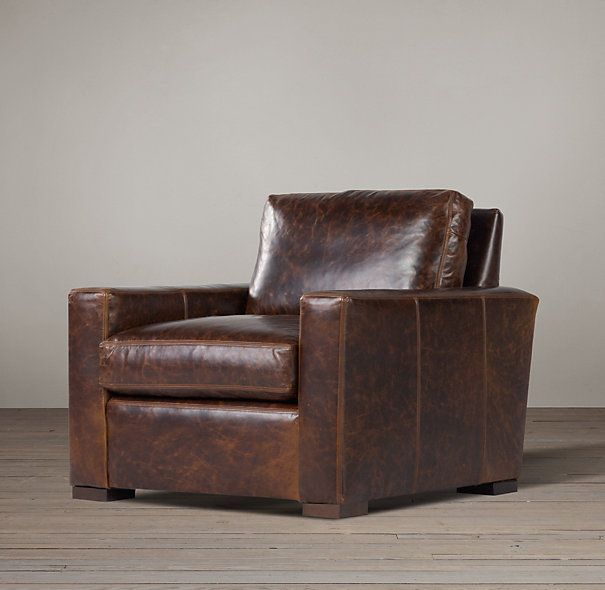 the petite maxwell leather chair rh 1700 home living rooms