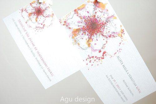 Floral I - svatební oznámení