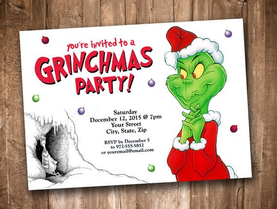 Grinchmas Party Invitation Personalized Digital By