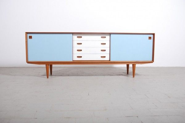 enfilade scandinave teck 1950 1960 buffet vintage danois mobilier pinterest teck vintage. Black Bedroom Furniture Sets. Home Design Ideas