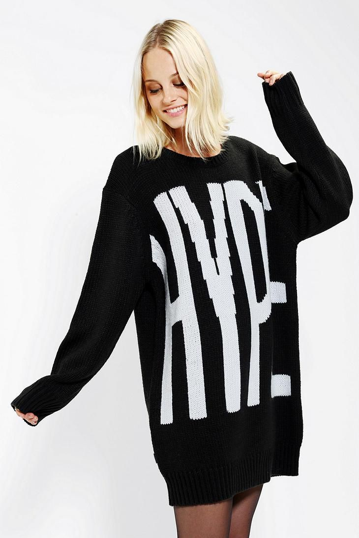 Bold and oversized HYPE logo sweater. #urbanoutfitters