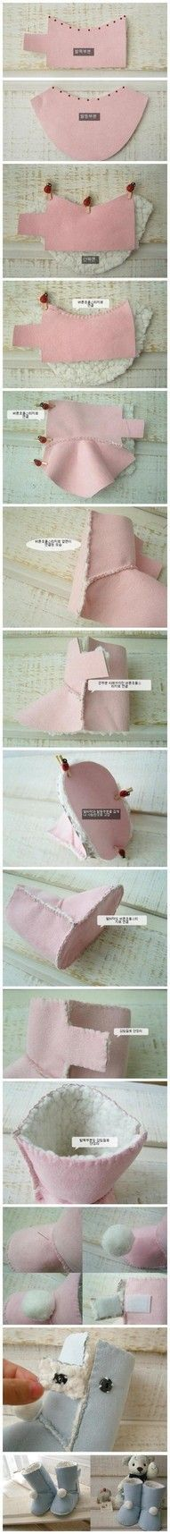 Make your own doll boots like UGGS--cute!                                                                                                                                                                                 Plus                                                                                                                                                                                 Plus