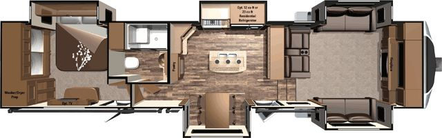 Open Range 3X 377FLR 41' Front living room 5th wheel with 5 slides - Sleeps 6 New floorplan for 2016 by Open Range RV