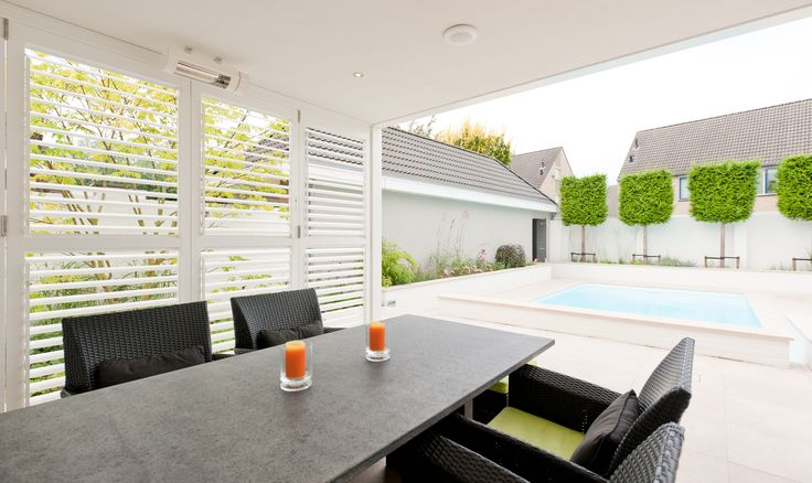 Louvretec shutter systems provide you much needed privacy, shade, shelter and security as well as beautiful aesthetics.