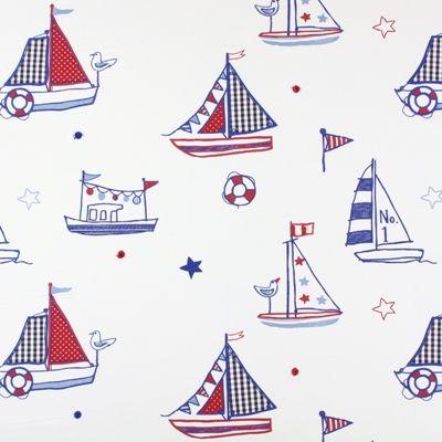 Regatta Marine 100% cotton 140cm (useable 122cm)  47cm Embroidery